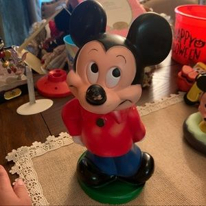 Vintage Disney Mickey Mouse Rubber Penny Bank